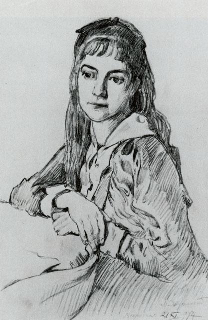 Добужинский М.В. Верочка. Портрет дочери художника. 1914. ГРМ
