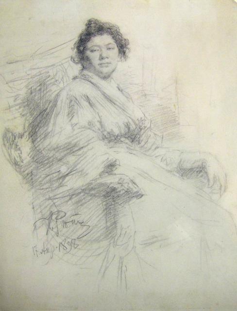 Репин И.Е. Портрет Марты Странден. 1898. ЕМИИ