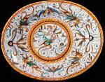 Италия. Дерута, ок. 1520 г. Блюдо овальное. Майолика, роспись