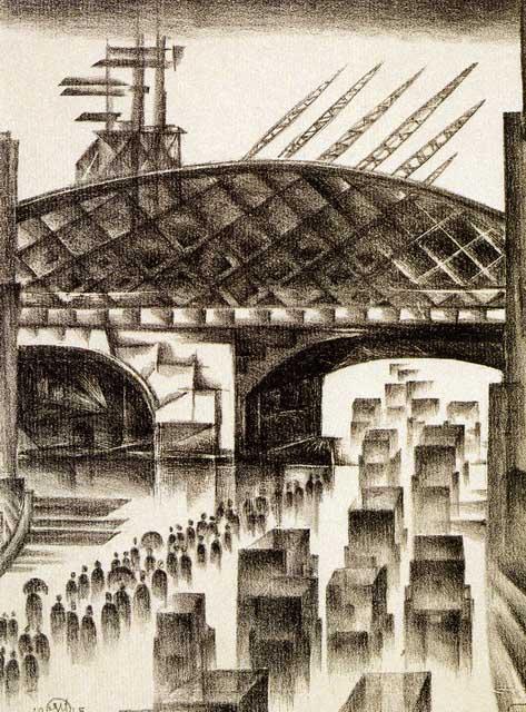 Добужинский М.В. Улица в Лондоне. 1915. ГРМ