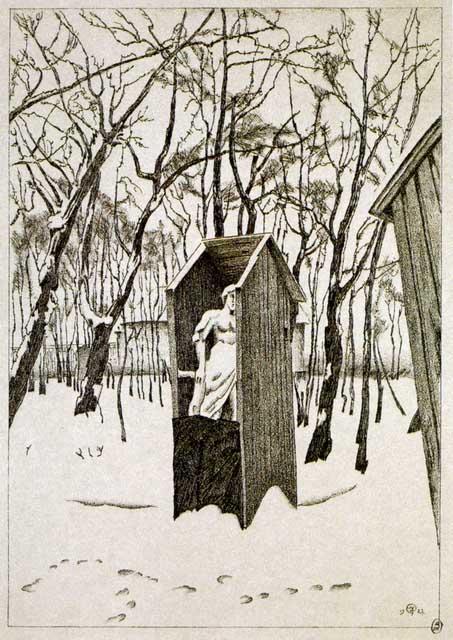 Добужинский М.В. Летний сад зимой. 1922. ГРМ