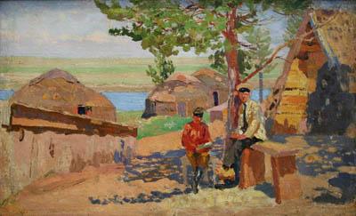 Никулин А.О. Аул. Курортники. 1910-1914 гг. Собрание ГХМАК
