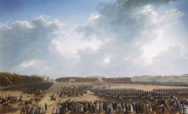 Чернецов Г.Г. Парад на Царицыном лугу в Петербурге. 1832-1837