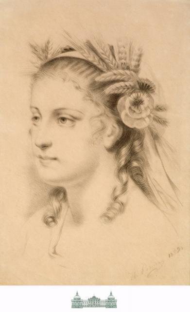 Репин И.Е. Голова девушки. 1859. ТОКГ